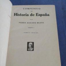 Libros antiguos: COMPENDIO DE HISTORIA DE ESPAÑA. ED. ESPASA-CALPE. AÑO 1933. DOS TOMOS. Lote 220081488