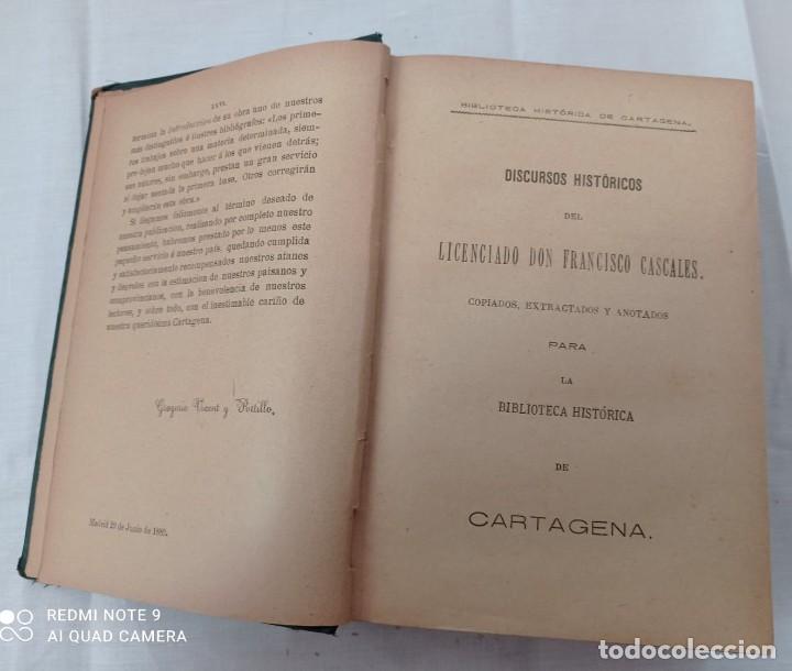 Libros antiguos: BIBLIOTECA HISTORICA DE CARTAGENA - 1889 - Foto 3 - 220291992