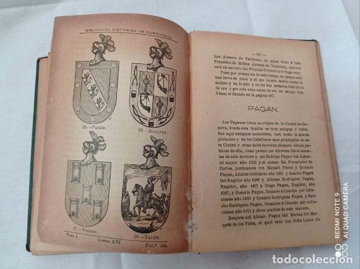 Libros antiguos: BIBLIOTECA HISTORICA DE CARTAGENA - 1889 - Foto 5 - 220291992