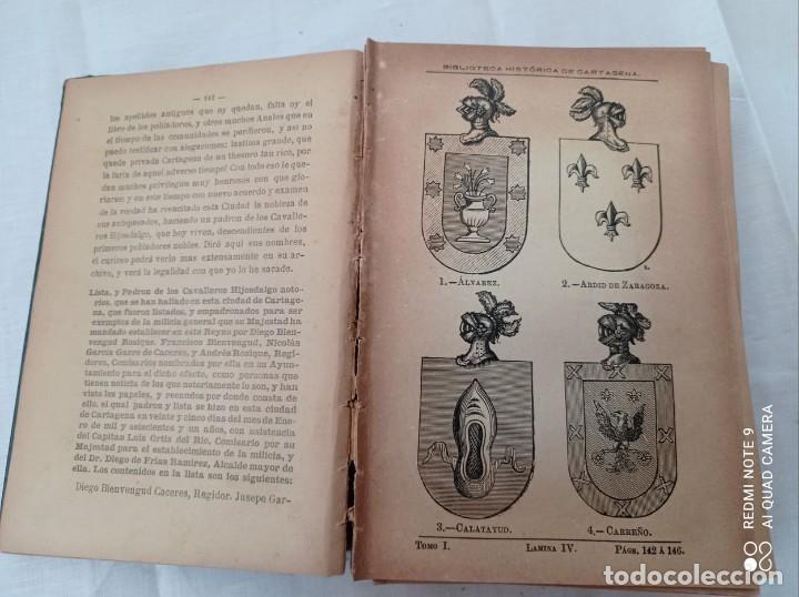 Libros antiguos: BIBLIOTECA HISTORICA DE CARTAGENA - 1889 - Foto 7 - 220291992