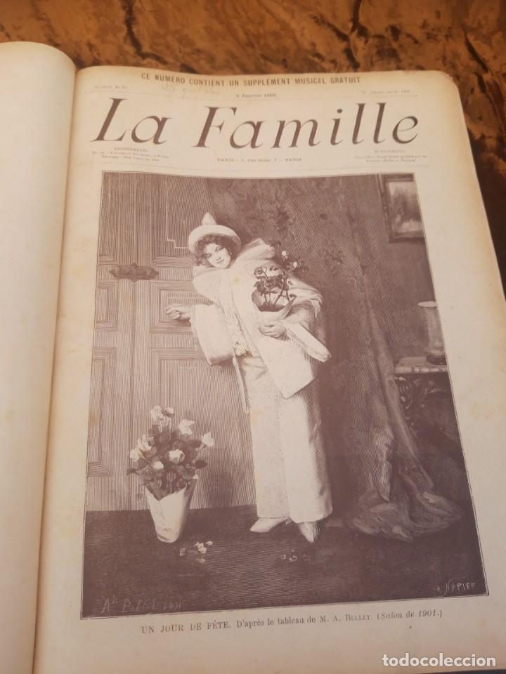 Libros antiguos: Encuadernable de La Famille 1902 - Foto 10 - 220365902
