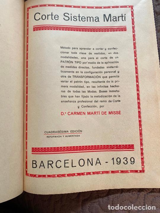 Libros antiguos: corte sistema marti lenceria para señoras 1939 - Foto 2 - 220398882
