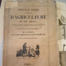 Libros antiguos: 1838 TOMO 1 NOUVEAU COURS COMPLET D'AGRICULTURA SU XIX SIECLE AGRICULTURA GRABADOS. Lote 220728327
