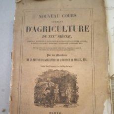 Libros antiguos: 1838 TOMO 14 NOUVEAU COURS D'AGRICULTURE DU XIX SIECLE AGRICULTURA GRABADOS. Lote 220733406