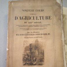 Libros antiguos: 1838 TOMO 12 NOUVEAU COURS COMPLET D'AGRICULTURE DU XIX SIECLE AGRICULTURA GRABADOS. Lote 220739022