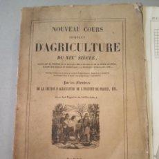 Libros antiguos: 1838 TOMO 10 NOUVEAU COURS COMPLET D'AGRICULTURE SU XIX SIECLE AGRICULTURA GRABADOS. Lote 220740501