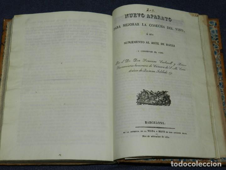 Libros antiguos: Dr.FRANCISCO CARBONELL Y BRAVO,MANUAL DE LA FABRICACION DEL VINO Y DEL VINAGRE O SEA ARTE DE HACER Y - Foto 3 - 220936581