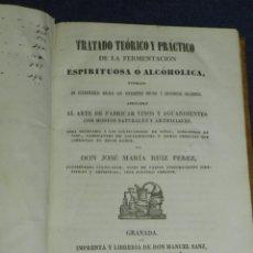 Libros antiguos: JOSE MARIA RUIZ PEREZ -( VINOS )TRATADO TEORICO Y PRACTICO DE LA FERMENTACION , GRANADA 1845. Lote 220936922