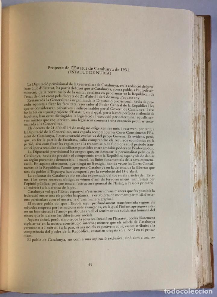 Libros antiguos: ESTATUTS (ELS) DE CATALUNYA. - Foto 6 - 123143904