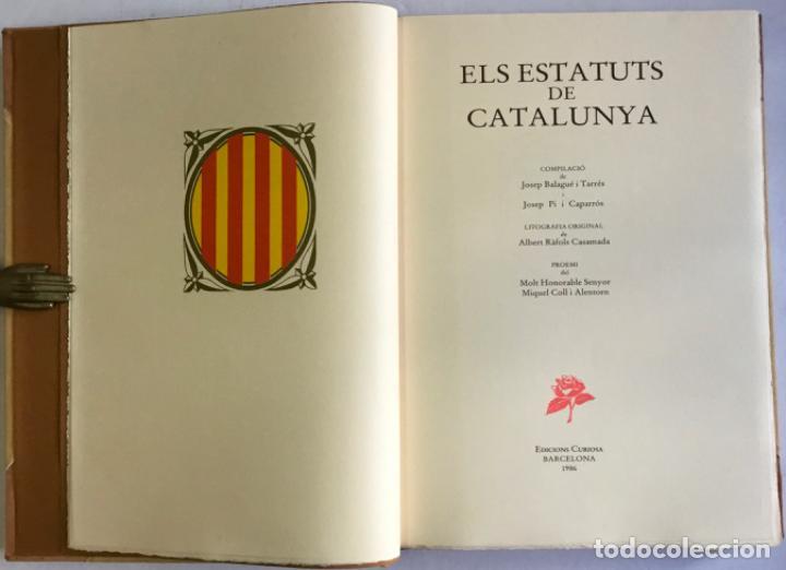 ESTATUTS (ELS) DE CATALUNYA. (Libros Antiguos, Raros y Curiosos - Historia - Otros)