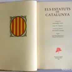 Libros antiguos: ESTATUTS (ELS) DE CATALUNYA.. Lote 123143904