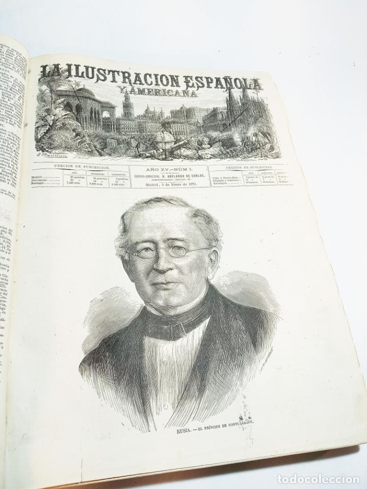 Libros antiguos: La ilustración Española y Americana. Año completo. 1871. Profusamente ilustrado. Folio. - Foto 4 - 221093098