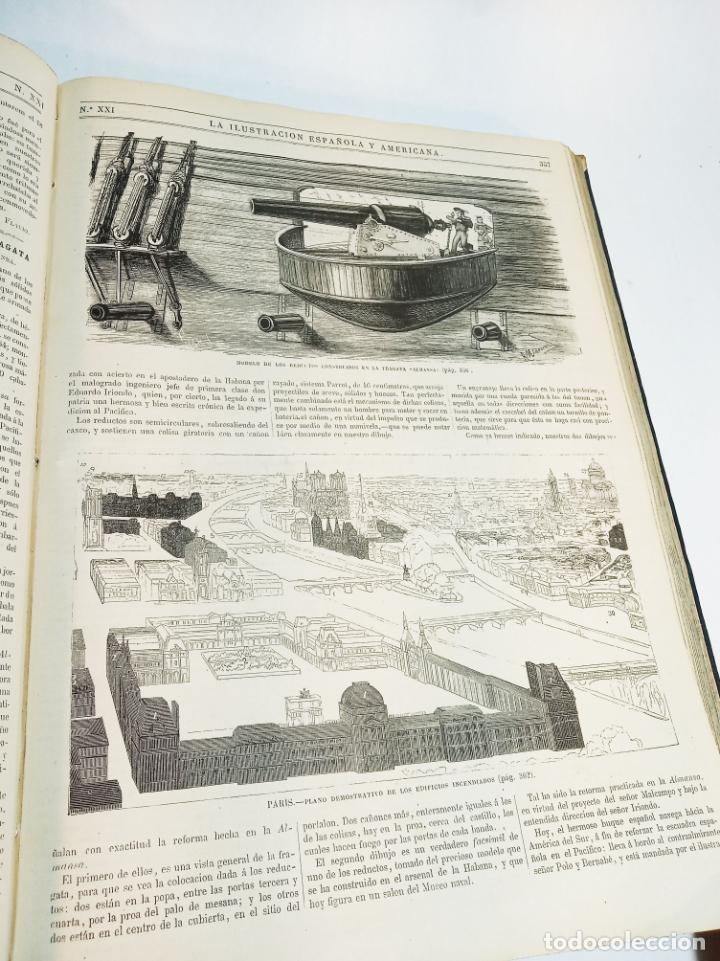 Libros antiguos: La ilustración Española y Americana. Año completo. 1871. Profusamente ilustrado. Folio. - Foto 20 - 221093098