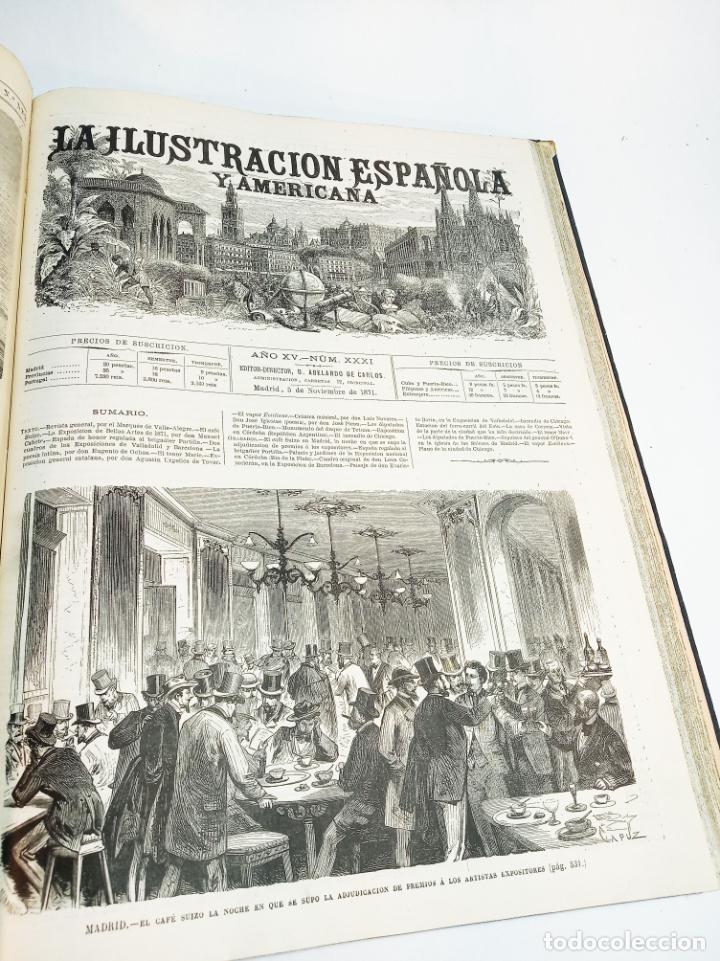 Libros antiguos: La ilustración Española y Americana. Año completo. 1871. Profusamente ilustrado. Folio. - Foto 23 - 221093098