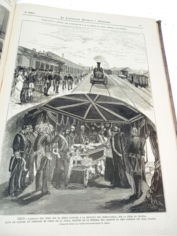Libros antiguos: La ilustración Española y Americana. Segundo semestre. 1878. Profusamente ilustrado. Folio. - Foto 10 - 221096045