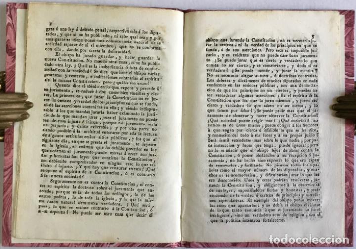 Libros antiguos: EXPOSICIÓN que el Excmo. Sr. obispo de Orense hizo por ecrito al tiempo de prestar su juramento de o - Foto 3 - 123144255
