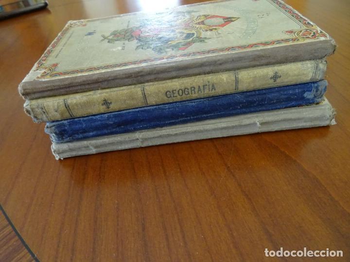 Libros antiguos: lote 4 libros antiguos de escuela, siglo XIX y XX - Foto 4 - 221232612