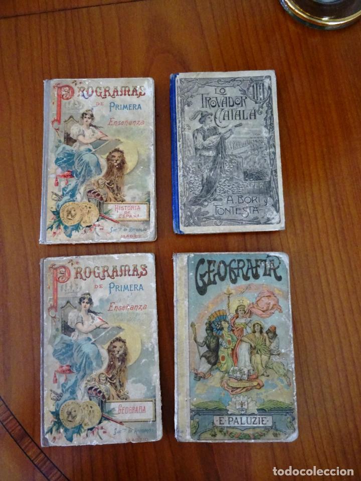 LOTE 4 LIBROS ANTIGUOS DE ESCUELA, SIGLO XIX Y XX (Libros Antiguos, Raros y Curiosos - Literatura Infantil y Juvenil - Otros)