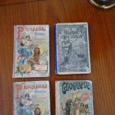 Libros antiguos: LOTE 4 LIBROS ANTIGUOS DE ESCUELA, SIGLO XIX Y XX. Lote 221232612