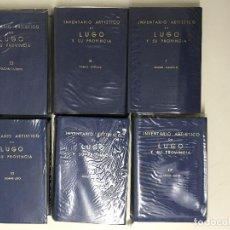 Libros antiguos: INVENTARIO ARTÍSTICO DE LUGO Y SU PROVINCIA, 6 TOMOS COMPLETO. GALICIA.. Lote 221301942