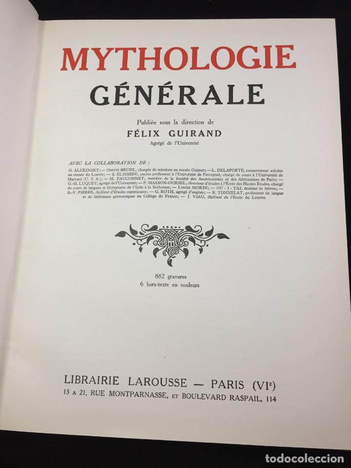 Libros antiguos: Mythologie générale. Félix Guirand, Editorial: Larousse, 1935 Francés - Foto 3 - 221337960