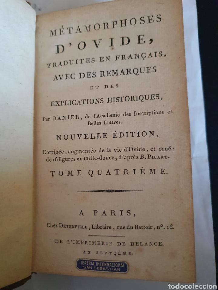Libros antiguos: LIBRO LES METAMORPHOSES DOVIDE , - Foto 5 - 221343292