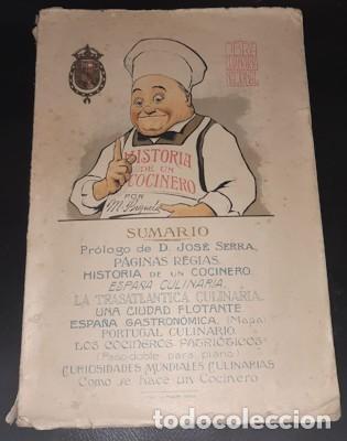 OBRA CULINARIA NACIONAL, HISTORIA DE UN COCINERO, M. BRIZUELA, CÁDIZ 1917 (Libros Antiguos, Raros y Curiosos - Cocina y Gastronomía)