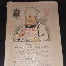Libros antiguos: OBRA CULINARIA NACIONAL, HISTORIA DE UN COCINERO, M. BRIZUELA, CÁDIZ 1917. Lote 221363500