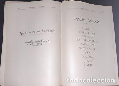 Libros antiguos: OBRA CULINARIA NACIONAL, HISTORIA DE UN COCINERO, M. BRIZUELA, CÁDIZ 1917 - Foto 7 - 221363500