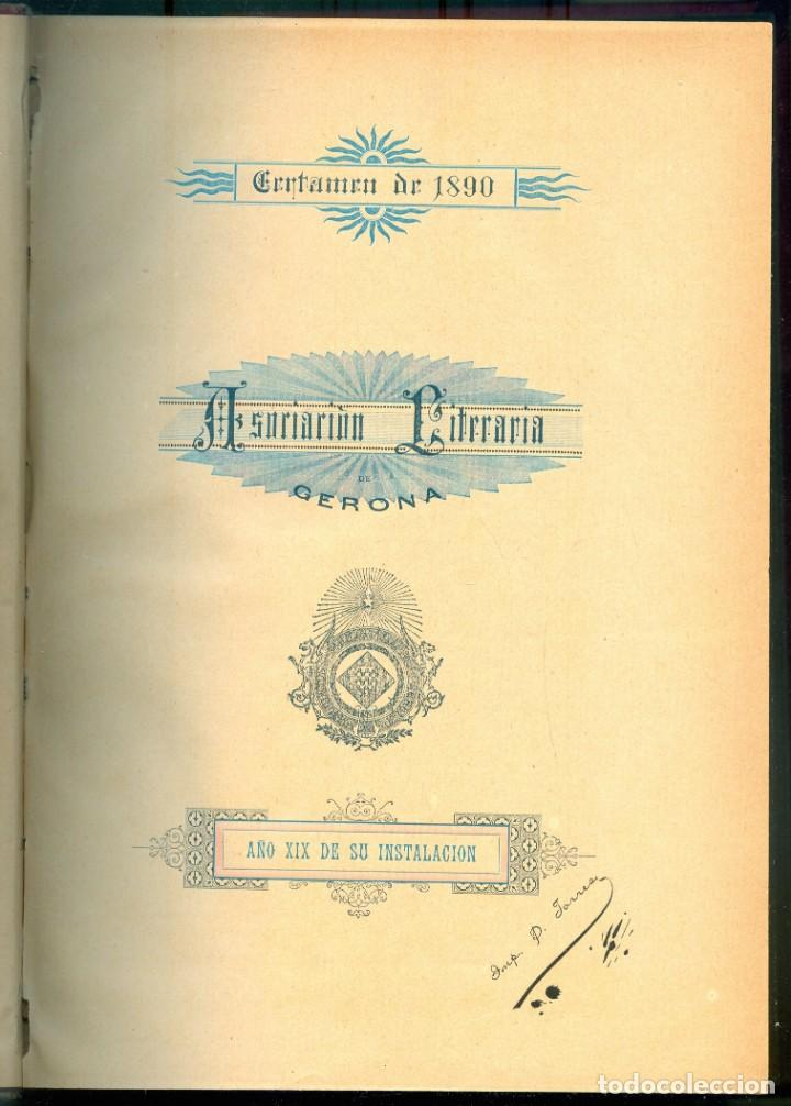 Libros antiguos: NUMULITE E0062 Asociación literaria de Gerona Girona 1881 1984 / 1885 1889 / 1890 1893 Tres tomos - Foto 2 - 221412391