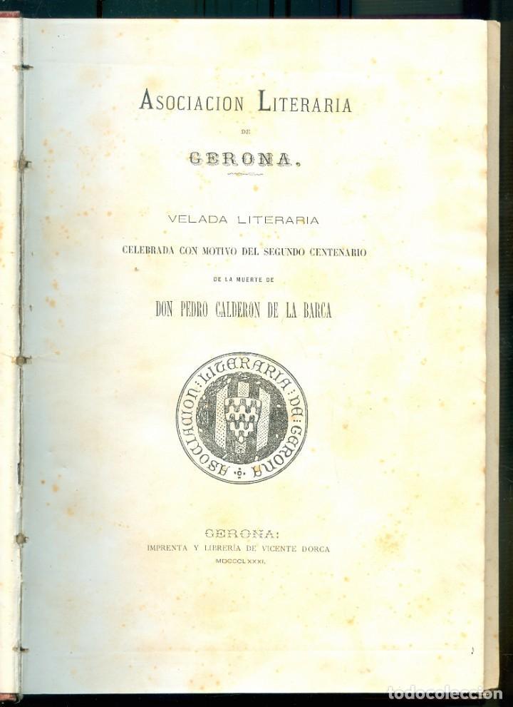 Libros antiguos: NUMULITE E0062 Asociación literaria de Gerona Girona 1881 1984 / 1885 1889 / 1890 1893 Tres tomos - Foto 4 - 221412391