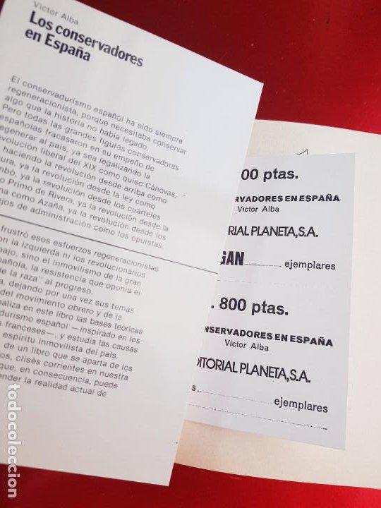 Libros antiguos: LIBRO-LOS CONSERVADORES EN ESPAÑA-VICTOR ALBA-VER FOTOS - Foto 10 - 221417868