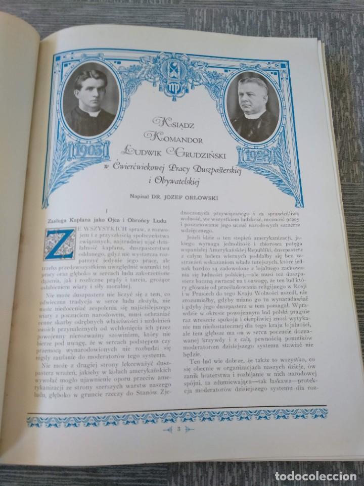 Libros antiguos: CURIOSO LIBRO DE LA COMUNIDAD POLACA DE EEUU (CHICACO, ILLINOIS, 1928): PAMIETNIK JUBILEUSZOWY - Foto 5 - 221457287