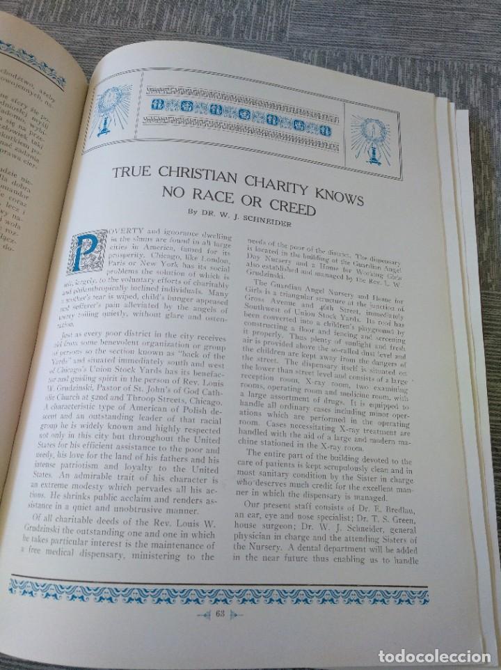 Libros antiguos: CURIOSO LIBRO DE LA COMUNIDAD POLACA DE EEUU (CHICACO, ILLINOIS, 1928): PAMIETNIK JUBILEUSZOWY - Foto 9 - 221457287