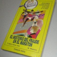 Libros antiguos: LIBRO-JUEGO RESUELVE EL MISTERIO Nº 6, EL MISTERIO DEL FRAUDE EN EL MARATON, TIMUN MAS 1984. Lote 221505031