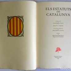 Libros antiguos: ESTATUTS (ELS) DE CATALUNYA.. Lote 123143908