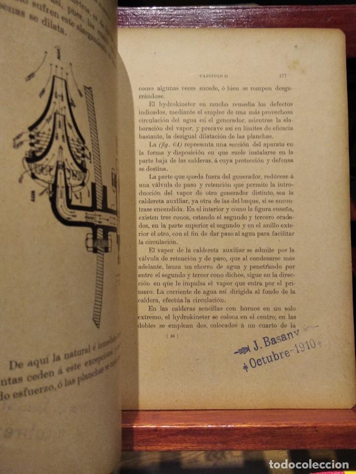 Libros antiguos: MANUAL DEL MAQUINISTA DE LA MARINA MERCANTE-EUGENIO AGACINO-TIPOGRAFIA GADITANA-1900 - Foto 8 - 221600307