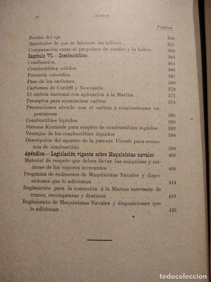 Libros antiguos: MANUAL DEL MAQUINISTA DE LA MARINA MERCANTE-EUGENIO AGACINO-TIPOGRAFIA GADITANA-1900 - Foto 20 - 221600307