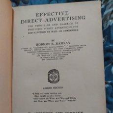 Libros antiguos: 1929. PRINCIPIOS Y PRÁCTICA DE PRODUCIR PUBLICIDAD DIRECTA PARA DISTRIBUIR POR CORREOS. RAMSAY.. Lote 221606732