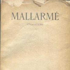 Libros antiguos: MALLARMÉ: DIVAGATIONS. Lote 221703247