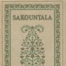 Libros antiguos: SAKOUNTALA. Lote 221703430