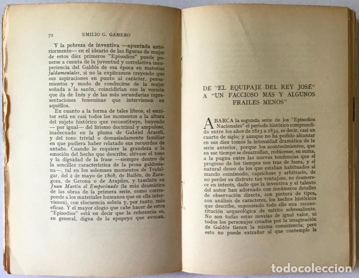 Libros antiguos: GALDÓS Y SU OBRA. (I) LOS EPISODIOS NACIONALES. (II) LAS NOVELAS. (III) EL TEATRO. - GAMERO Y - Foto 4 - 123191400