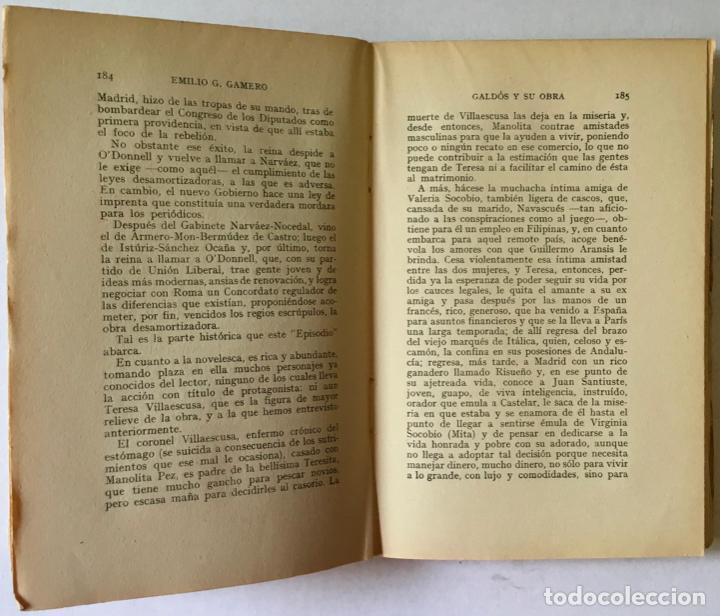 Libros antiguos: GALDÓS Y SU OBRA. (I) LOS EPISODIOS NACIONALES. (II) LAS NOVELAS. (III) EL TEATRO. - GAMERO Y - Foto 5 - 123191400