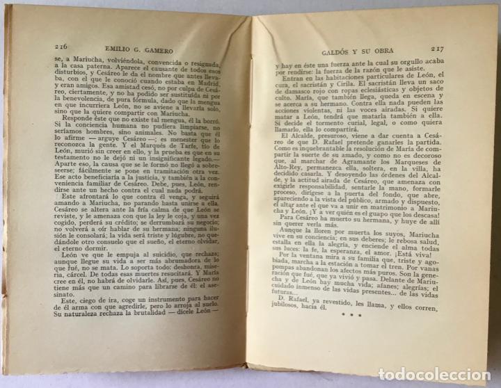 Libros antiguos: GALDÓS Y SU OBRA. (I) LOS EPISODIOS NACIONALES. (II) LAS NOVELAS. (III) EL TEATRO. - GAMERO Y - Foto 11 - 123191400