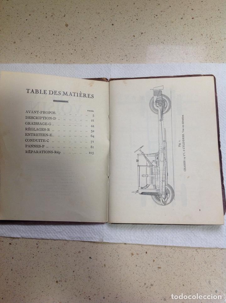 Libros antiguos: LA 14 CV VOISIN. SON ENTRETIEN. AVANT-PROPOS - Foto 6 - 221761878