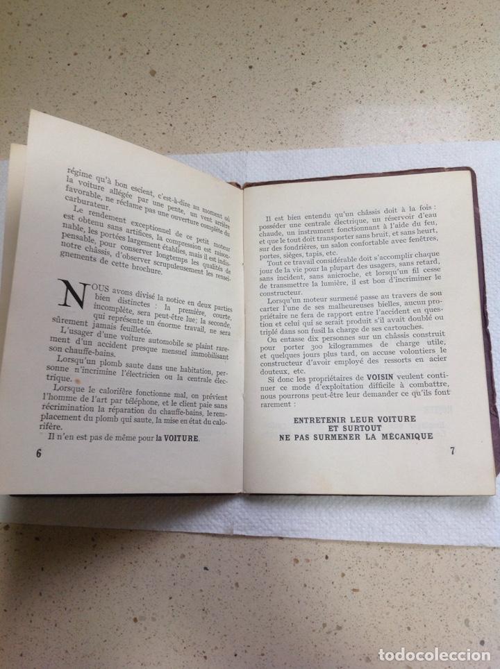 Libros antiguos: LA 14 CV VOISIN. SON ENTRETIEN. AVANT-PROPOS - Foto 8 - 221761878