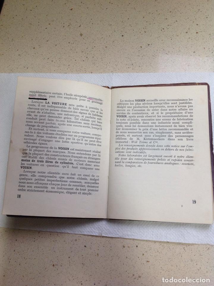 Libros antiguos: LA 14 CV VOISIN. SON ENTRETIEN. AVANT-PROPOS - Foto 10 - 221761878