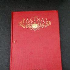 Libros antiguos: CLARIN. PAGINAS ESCOGIDAS. MADRID : CALLEJA, -, 1917.. Lote 221770155