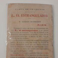 Libros antiguos: EL HOMBRE SIN CARA. ALBERT BOISSIERE. LA NOVELA DE AHORA 135. SATURNINO CALLEJA. AÑOS 10. Lote 221881322