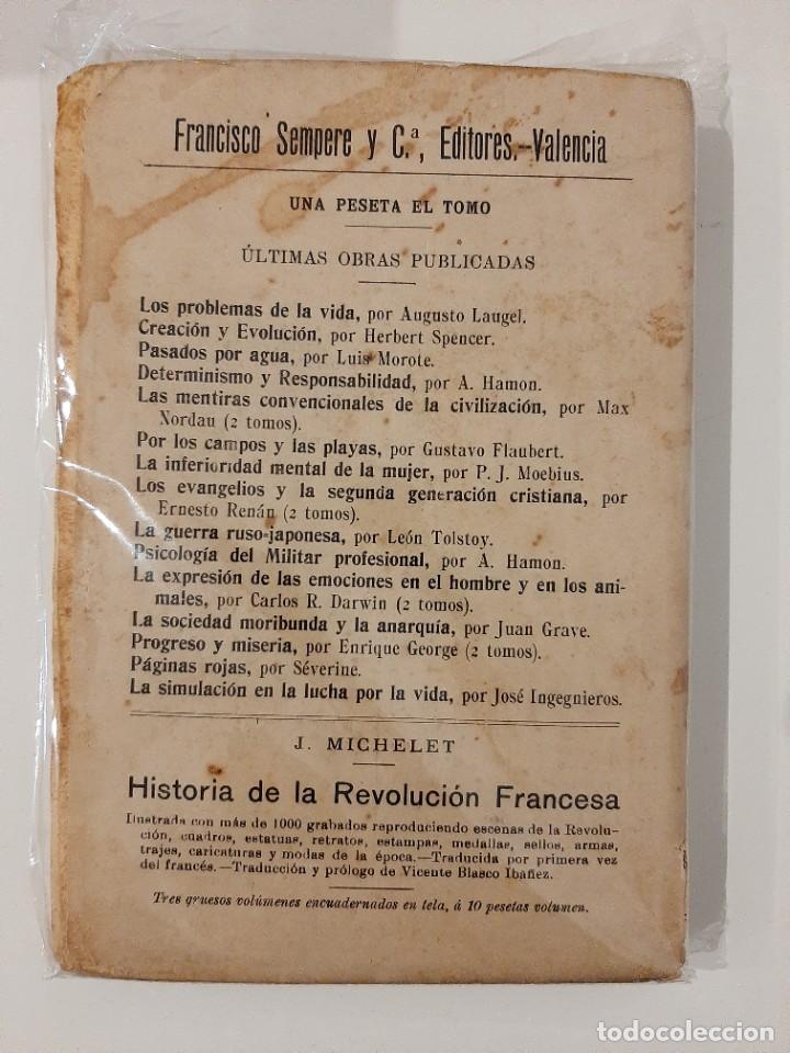 Libros antiguos: LUZ Y VIDA. LUIS BÜCHNER. SEMPERE Y COMPAÑÍA EDITORES. AÑOS 20-30 - Foto 3 - 221891800